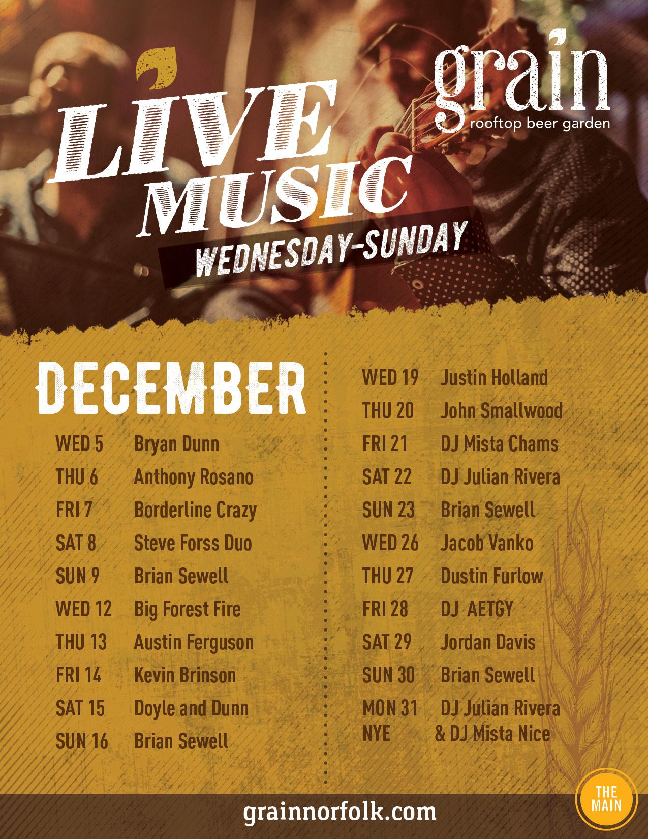 GRAIN_0343 DEC Entertainment Schedule